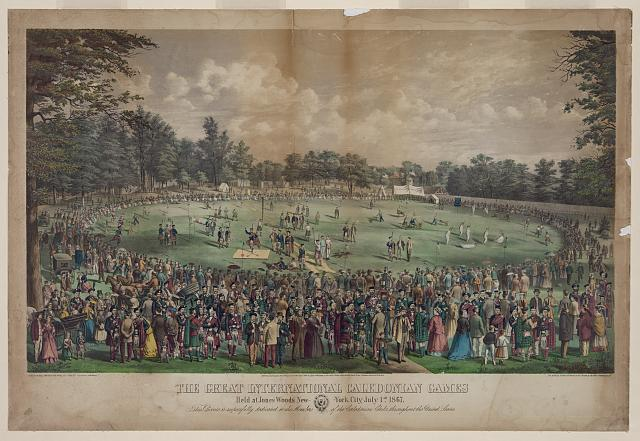 The great international Caledonian games Held at Jones Woods New York City, July 1st 1867 /