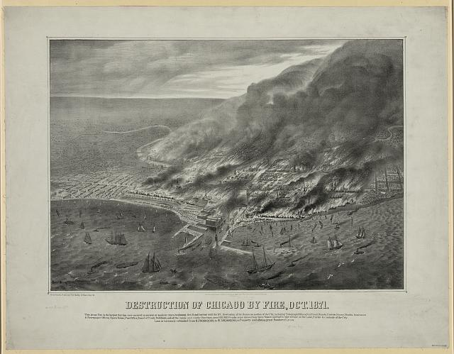 Destruction of Chicago by Fire, Oct. 1871