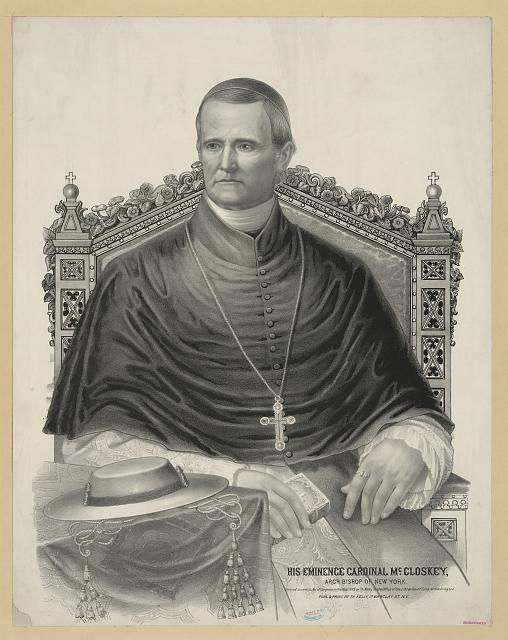 His eminence Cardinal McCloskey - archbishop of New York