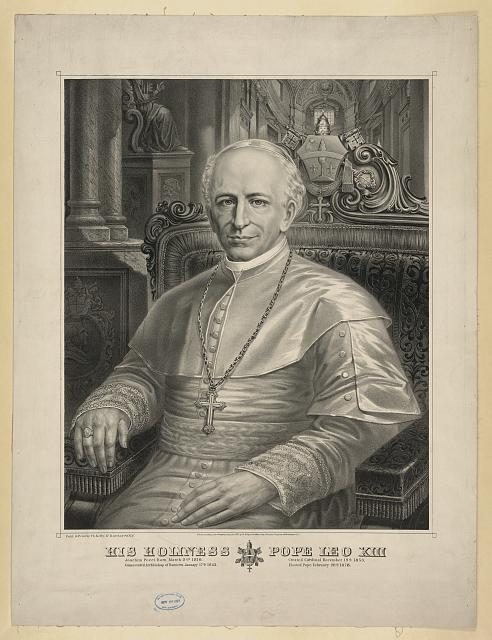 His holiness Pope Leo XIII