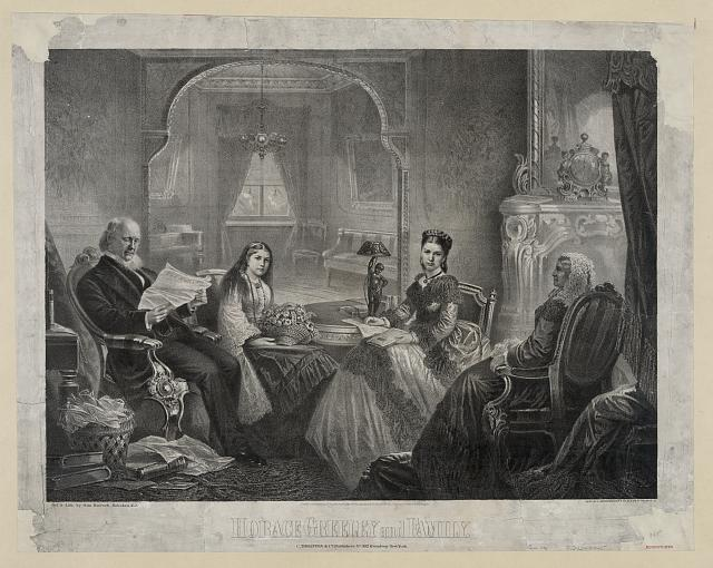 Horace Greeley and family