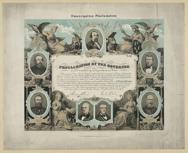 Emancipation Proclamation. Proclamation by the governor