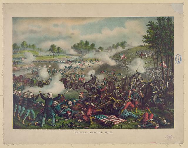 Battle of Bull Run--July 21st 1861--Federal (Gen. McDowell) ... Confederate (Gen. Beauregard) ...