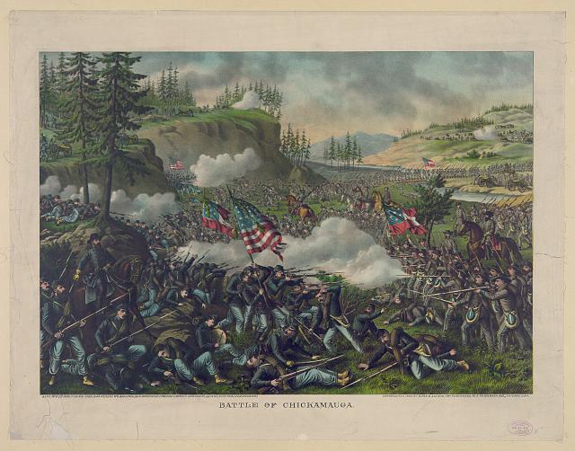 Battle of Chickamauga--Sept. 19' & 20' 1863--Federal ... (Gen. Rosecrans com.) Confederate ... (Gen. Bragg com.)