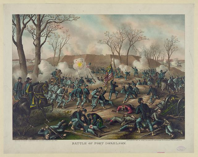 Battle of Fort Donelson--Capture of Generals S.B. Buckner and his army, February 16th 1862