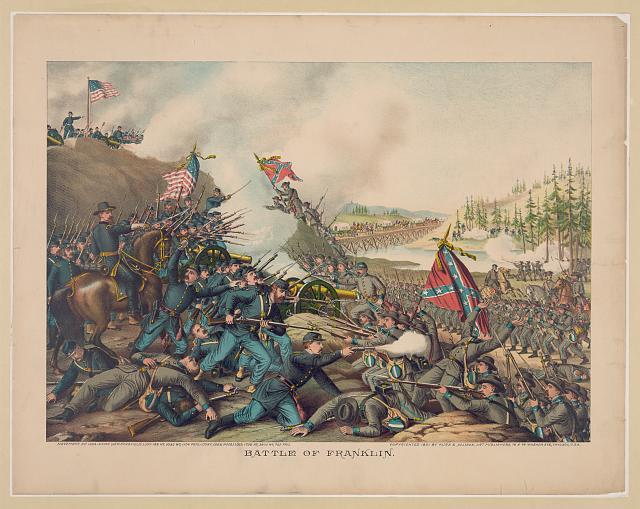 Battle of Franklin. November 30, 1864-Union (Gen. Schofield) ... Conf. (Gen. Hood) ...