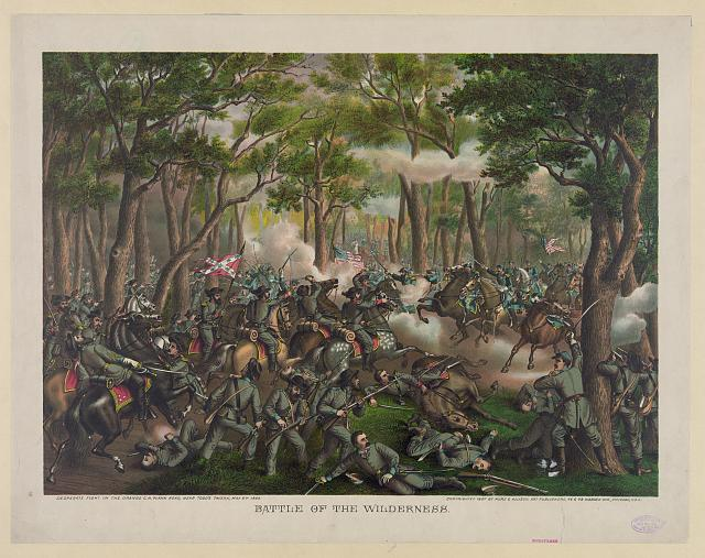 Battle of the Wilderness--Desperate fight on the Orange C.H. Plank Road, near Todd's Tavern, May 6th, 1864