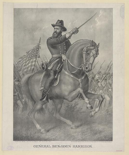 "General Benjamin Harrison--""Come on boys!"" - Battle of Resaca - May 13th to 16th 1864"