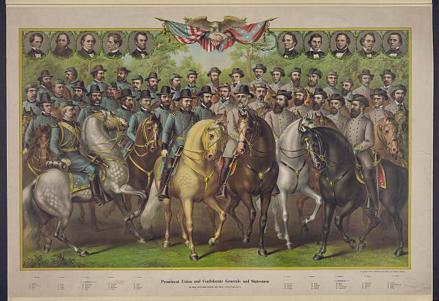 Prominent Union and Confederate generals and statesmen as they appeared during the great Civil War, 1861-5