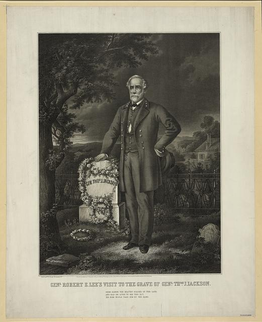 Genl. Robert E. Lee's visit to the grave of Genl. Thos. J. Jackson