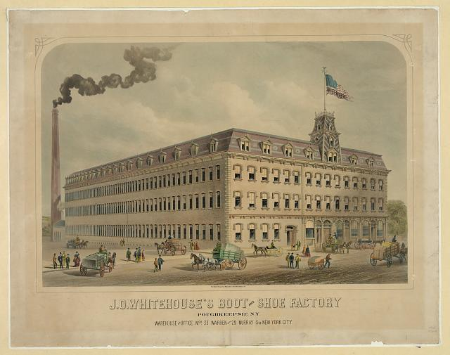 J.O. Whitehouse's boot and shoe factory, Poughkeepsie, N.Y.
