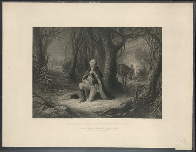 The Prayer at Valley Forge From the original painting by Henry Brueckner /