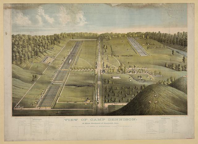 View of Camp Dennison: 16 miles northeast of Cincinnati, Ohio