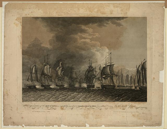 This representation of the battle on Lake Erie is respectfully inscribed to Commodore Perry, his officers and gallant crews, by their humble servant James Webster