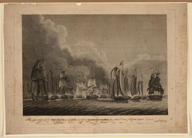 This representation of the battle on Lake Erie is respectfully inscribed to Commodore Perry, his officers and gallant crews, by their humble servant James Webster - second view