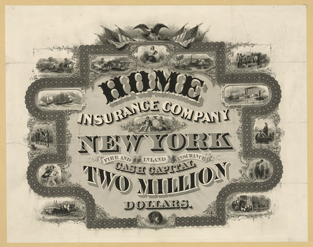 Home Insurance Company, New York ... cash capital two ...