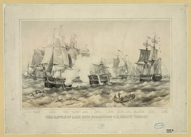 The Battle of Lake Erie, Commodore O.H. Perry's victory