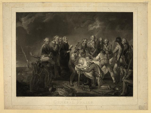 The burial of General Fraser