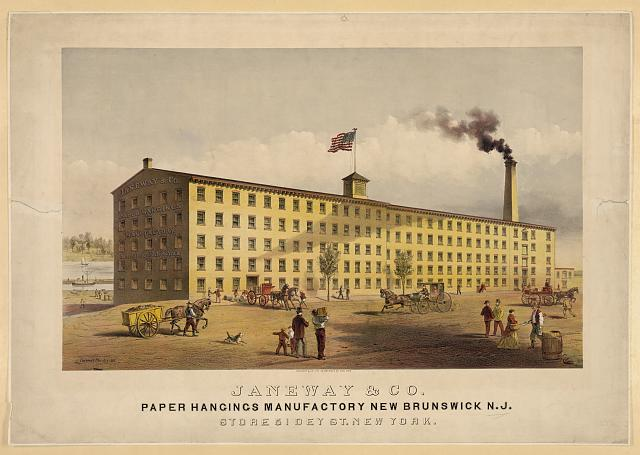 Janeway & Co., paper hangings manufactory, New Brunswick, N.J.