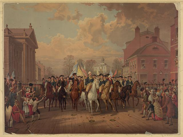 """Evacuation day"" and Washington's triumphal entry in New York City"