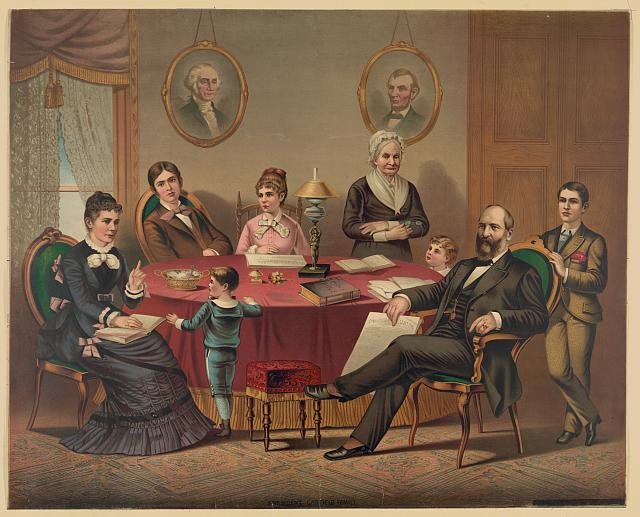 President Garfield family