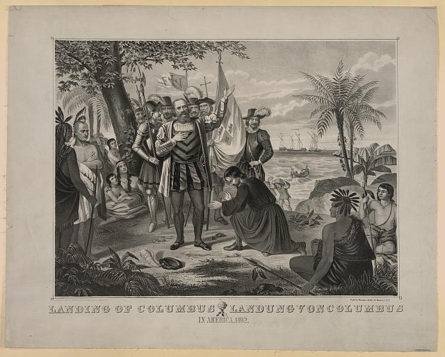 Landing of Columbus... in America, 1492