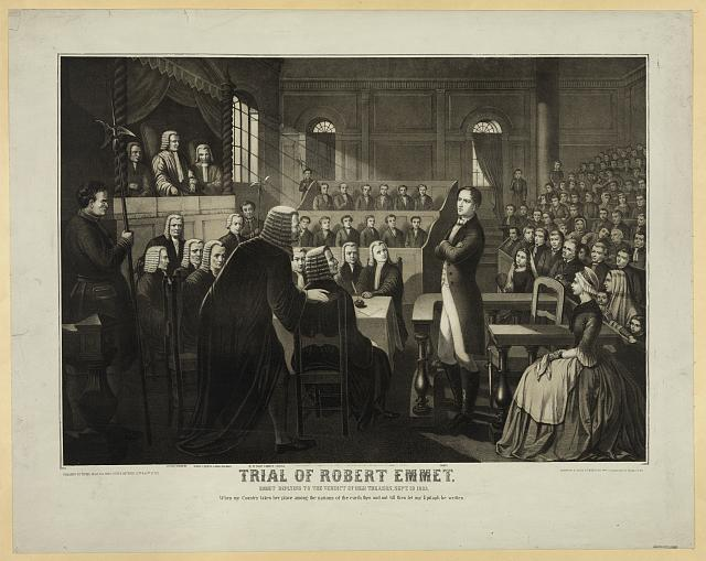 Trial of Robert Emmet, Emmet replying to the verdict of high treason, Sept. 19, 1803...