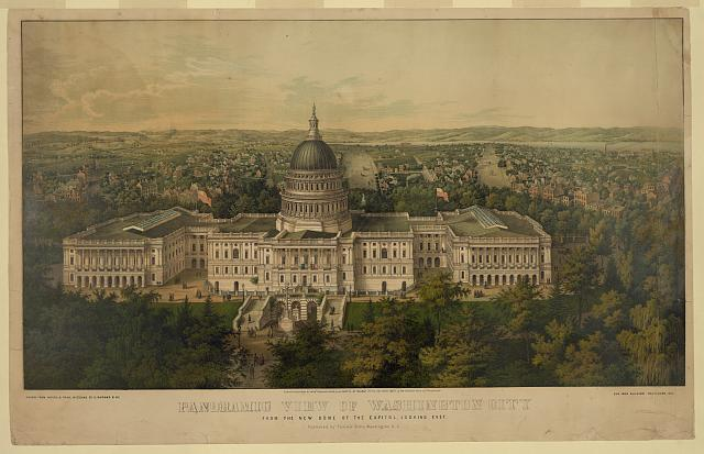 Panoramic view of Washington City from the new dome of the Capitol, looking east /