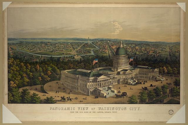 Panoramic view of Washington City from the new dome of the Capitol, looking west /
