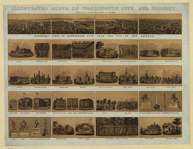 Illustrated album of Washington City and vicinity - panoramic view of Washington City, from the top of the Capitol