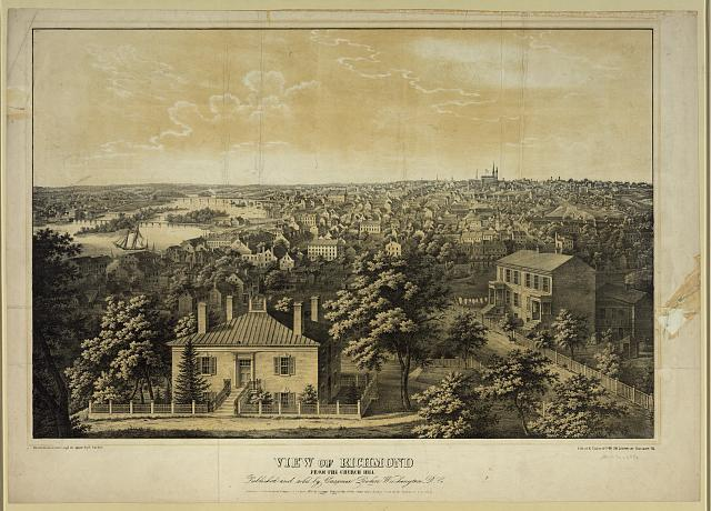 View of Richmond from the church hill