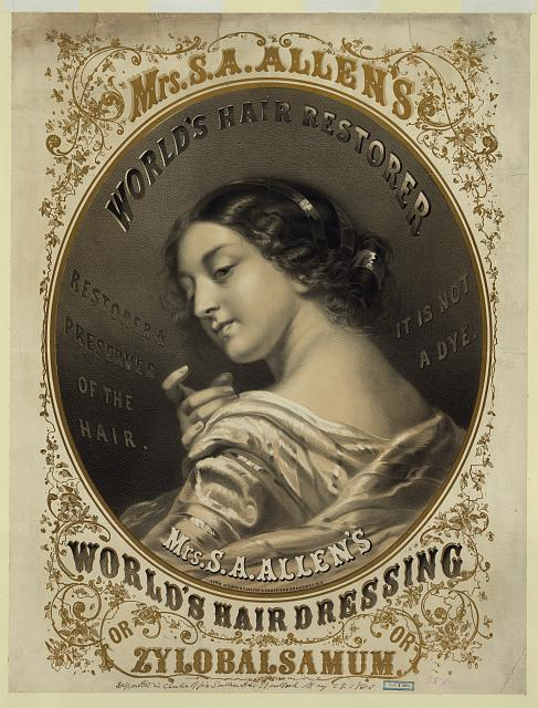 Mrs. S.A. Allen's world's hair dressing or zylobalsamum