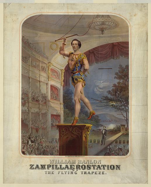 William Hanlon. Zampillaerostation or the flying trapeze