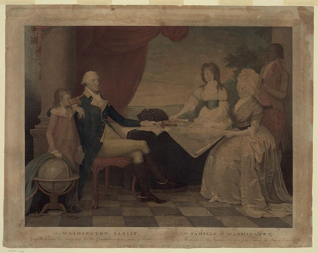 The Washington family--George Washington, his lady, and her two grandchildren by the name of Custis