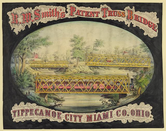 R.W. Smith's patent truss bridge, Tippecanoe City, Miami Co., Ohio