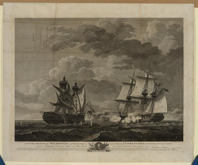 Capture of H.B.M. Frigate Macedonian, Capt. J.S. Carden by the U.S. frigate United States, Stephen Decatur, Esqr., Commander