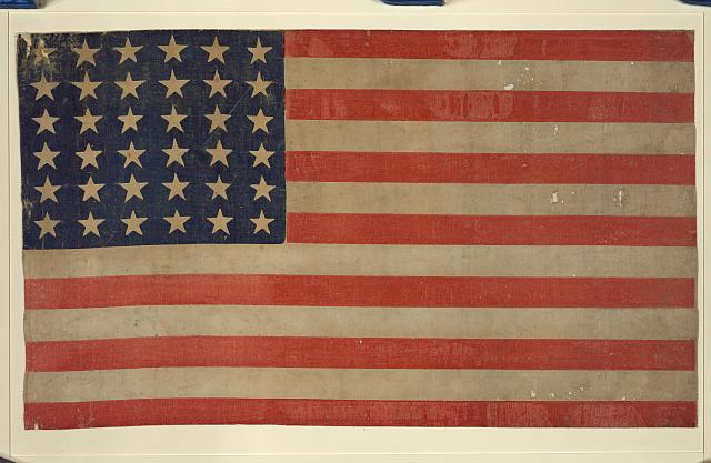 [Thirty-six star flag]