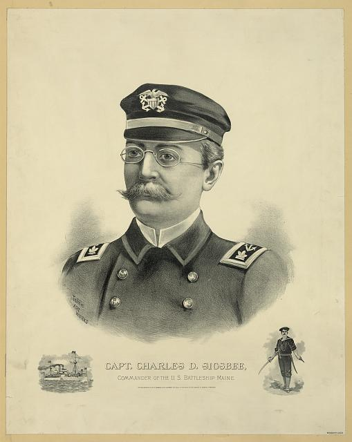 Capt. Charles D. Sigsbee, Commander of the U.S. battleship Maine