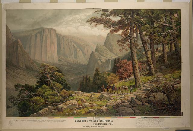"""Yosemite Valley"" California (from Mariposa trail)"