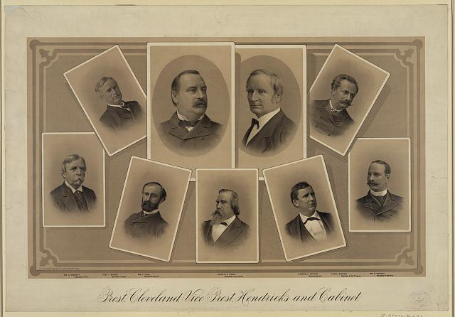 Prest. Cleveland, Vice Prest. Hendricks and cabinet