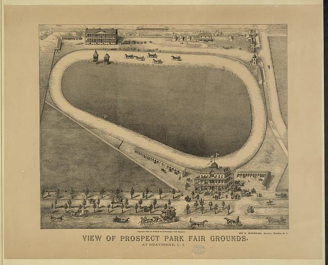 View of Prospect Park fair grounds, at Gravesend, L.I.