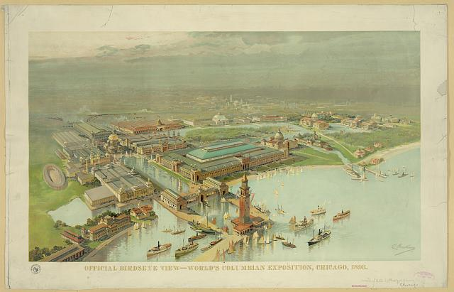 Official birdseye view. World's Columbian Exposition, Chicago, 1893