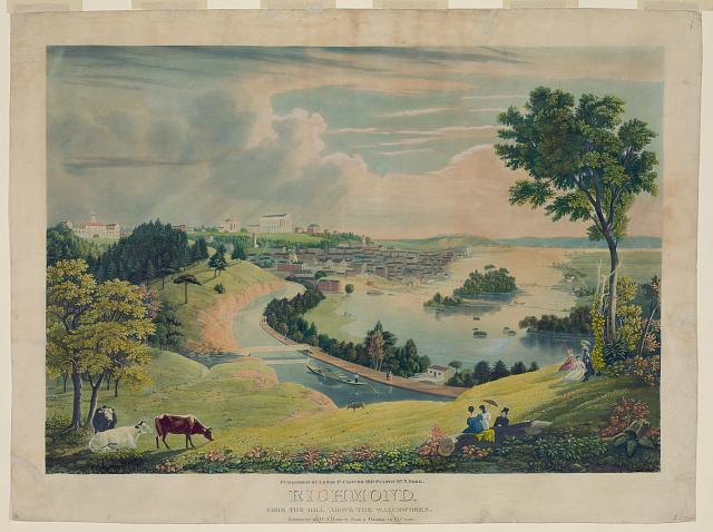 Richmond, from the hill above the waterworks