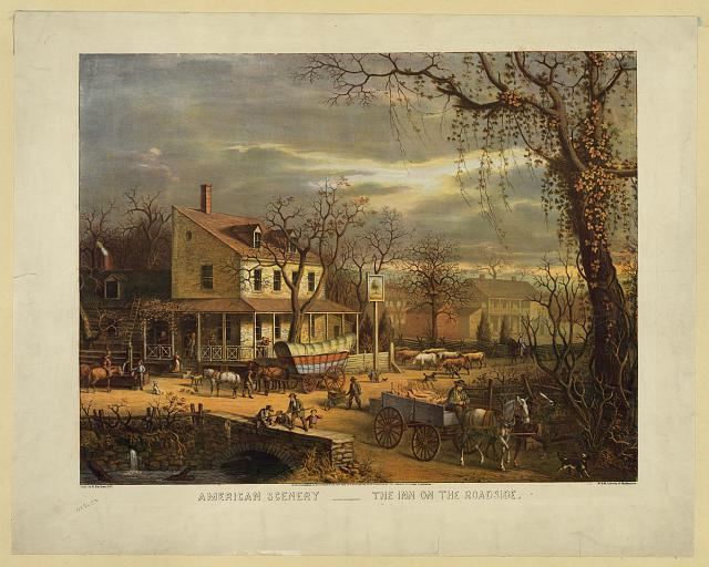 American scenery - the inn on the roadside