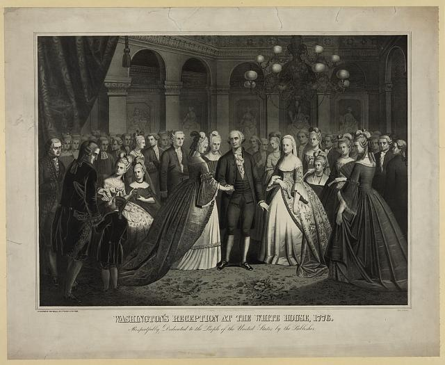 Washington's reception at the White House, 1776