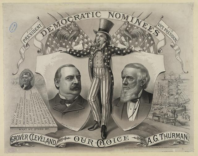 Our choice, Grover Cleveland, A.G. Thurman. Democratic nominees,  for president [and] for vice president