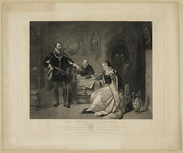 The signing of the death warrant of Lady Jane Grey