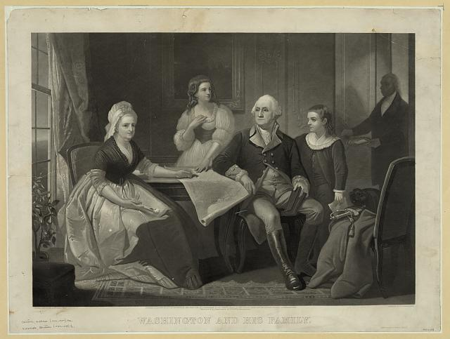 Washington and his family