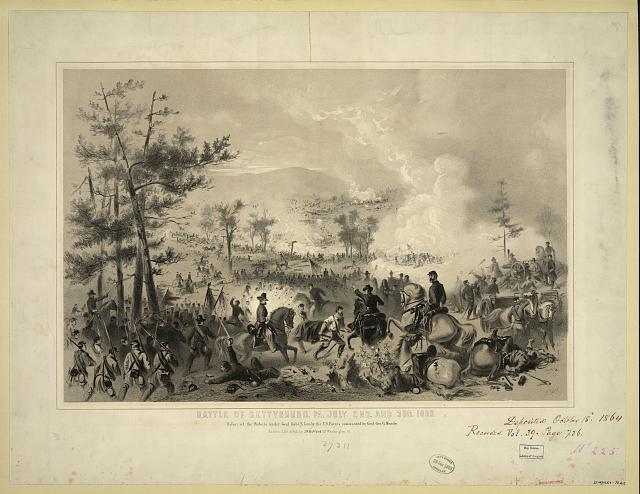 Battle of Gettysburg, Pa. July 2nd. and 3rd. 1863