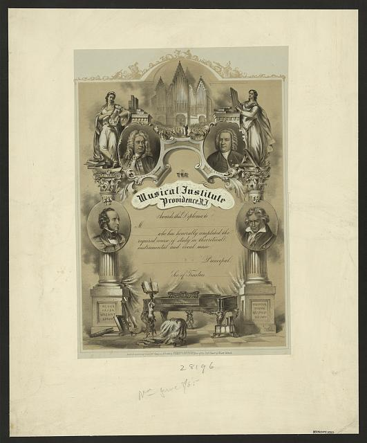 The Musical Institute, Providence, R.I., awards this diploma to ...